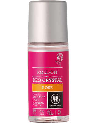 Urtekram Kristall Deo Roll on Rose 50ml