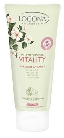 LOGONA Pflegedusche VITALITY Wildrose & Traube 200ml