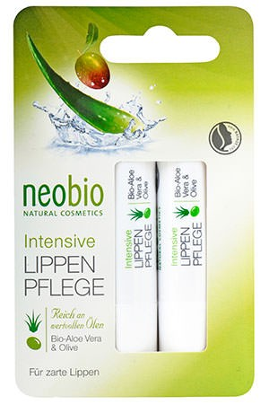 neobio Lip Care intensive Lippenpflege 2x4,8g