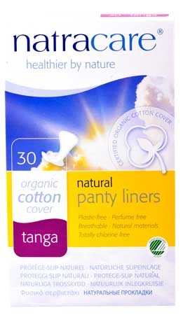 Natracare Tanga & String Slipeinlagen 100% Baumwolle 30 Stück