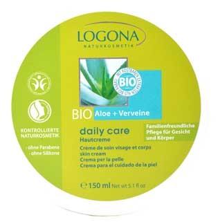 LOGONA Daily Care Hautcreme mit Bio-Aloe und Verveine Tiegel 150ml