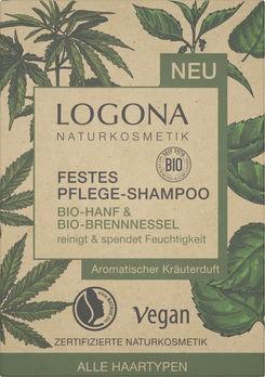 LOGONA Festes Shampoo Bio-Hanf & Bio-Brennessel 60g
