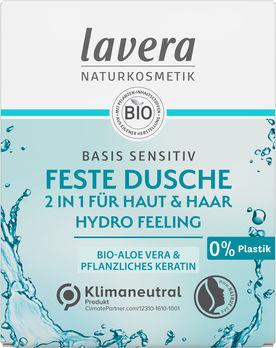 Lavera Feste Dusche Basis Sensitiv 2 in 1 Hydro-Feeling 50g
