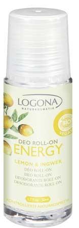 LOGONA Deo Roll-on ENERGY Lemon & Ingwer 50ml