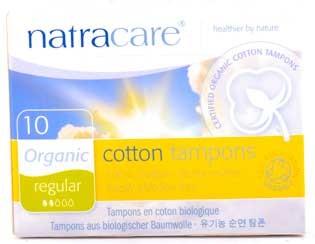 Natracare Tampons Normal Mini 100% Baumwolle 10 Stück