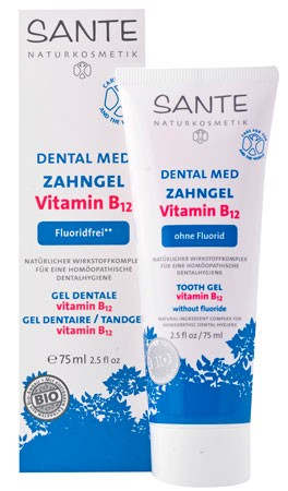 SANTE Dental Med Zahngel Vitamin B12 ohne Fluorid 75ml