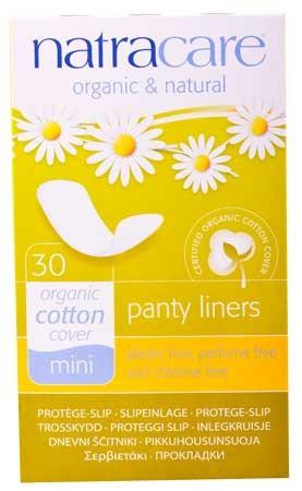 Natracare Slipeinlagen luftdurchlässig 100% Baumwolle 30 Stück