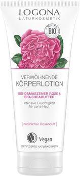 LOGONA Verwöhnende Körperlotion Bio-Demaszener Rose & Bio-Sheabutter 200ml