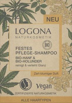LOGONA Festes Shampoo Bio-Hanf & Bio-Holunder 60g