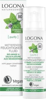 LOGONA PURIFY Mattierendes Feuchtigkeitsfluid Bio-Minze 30ml